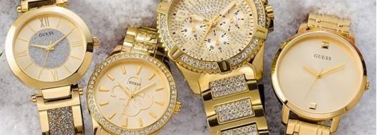 Топ 5 дамски часовници GUESS с инкрустирани камъни