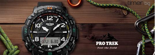 Ревю: Casio Pro Trek PRT-B50 с Quad Sensor и Smartphone Link