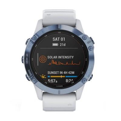 Часовник Garmin Fenix 6 Pro Solar Mineral Blue/Whitestone 010-02410-19
