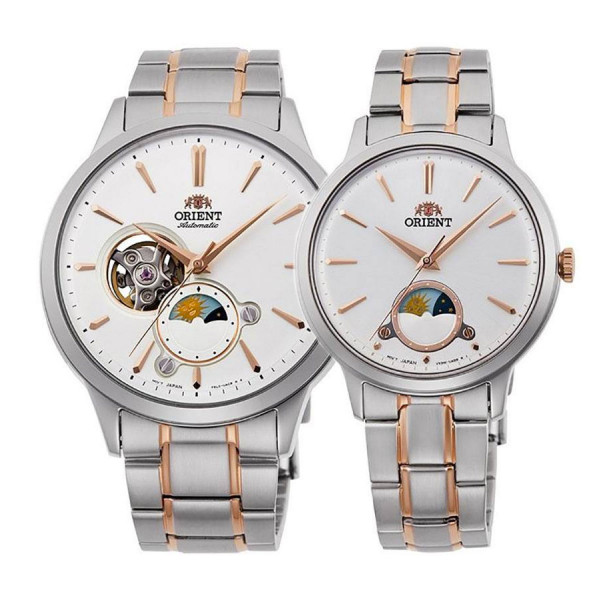Комплект часовници за двойки Orient RA-AS0101S и RA-KB0001S
