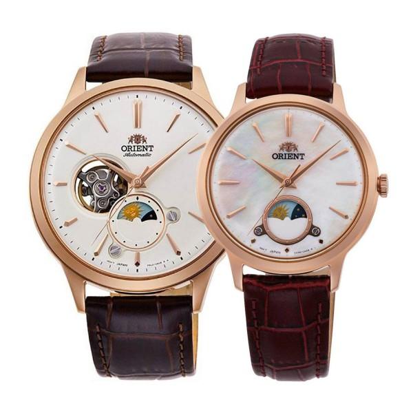 Комплект часовници за двойки Orient RA-AS0102S и RA-KB0002A