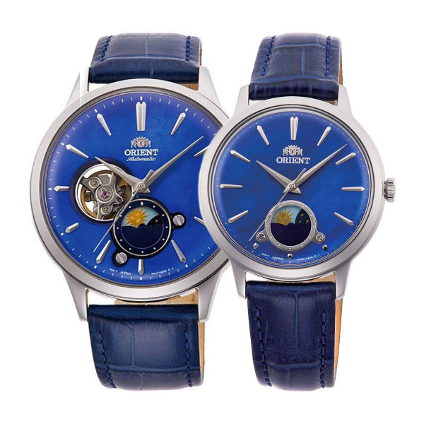 Комплект часовници за двойки Orient RA-AS0103A и RA-KB0004A