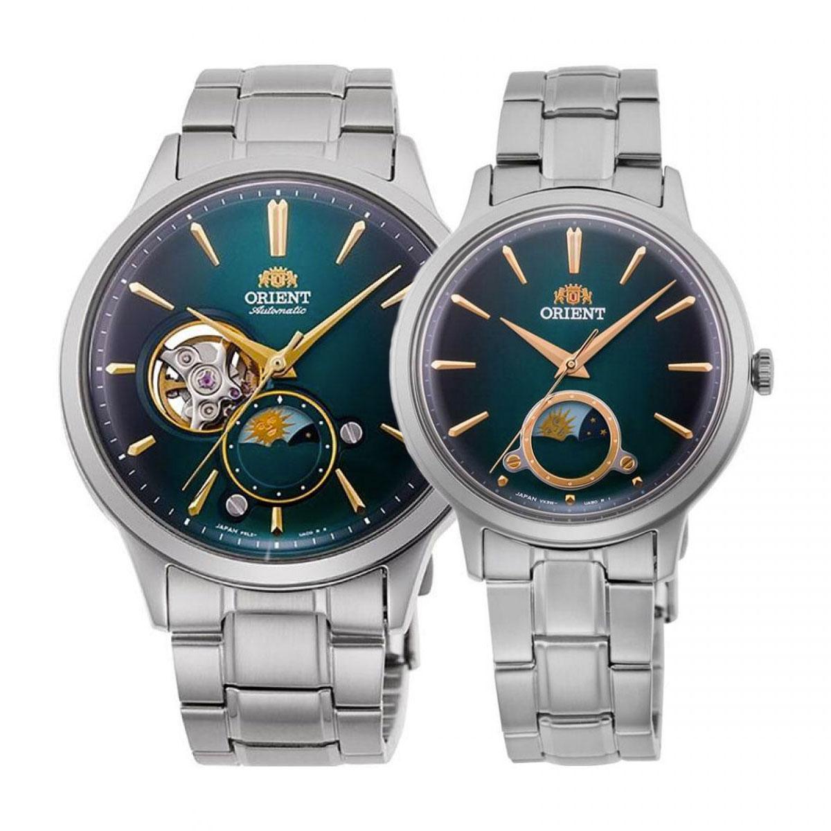 Комплект часовници за двойки Orient RA-AS0104E и RA-KB0005E