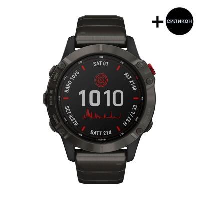 Часовник Garmin Fenix 6 Pro Solar Carbon Gray/Titanium 010-02410-23