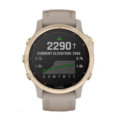 Часовник Garmin Fenix 6S Pro Solar Light Gold/Light Sand 010-02409-11