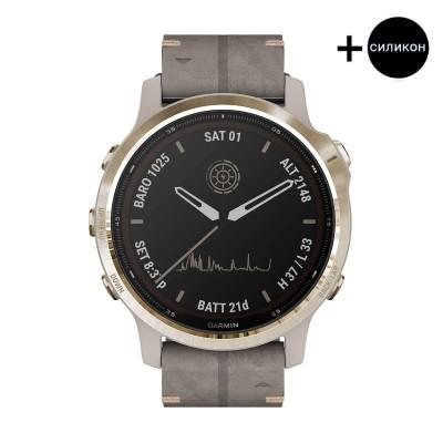 Часовник Garmin Fenix 6S Pro Solar Light Gold/Shale Suede 010-02409-26