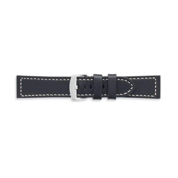 Коженa каишкa 24 мм, черна, Laval 46081824