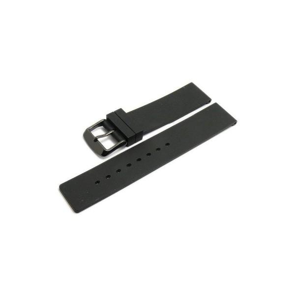 Силиконовa каишкa 18 мм, черна, Meyhofer MYHEKSKB190-18P-1A