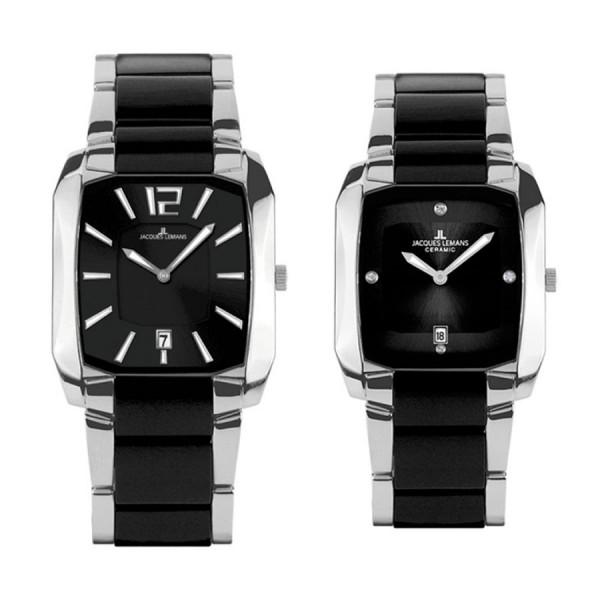 Комплект часовници за двойки Jacques Lemans 1-1389A & 1-1390C
