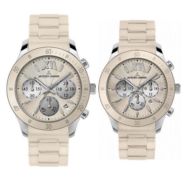 Комплект часовници за двойки Jacques Lemans 1-1586 M & 1-1587M