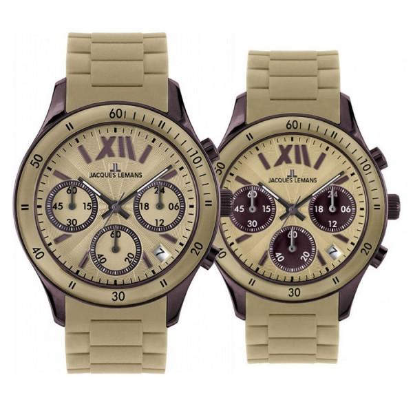 Комплект часовници за двойки Jacques Lemans 1-1586 S & 1-1587 S
