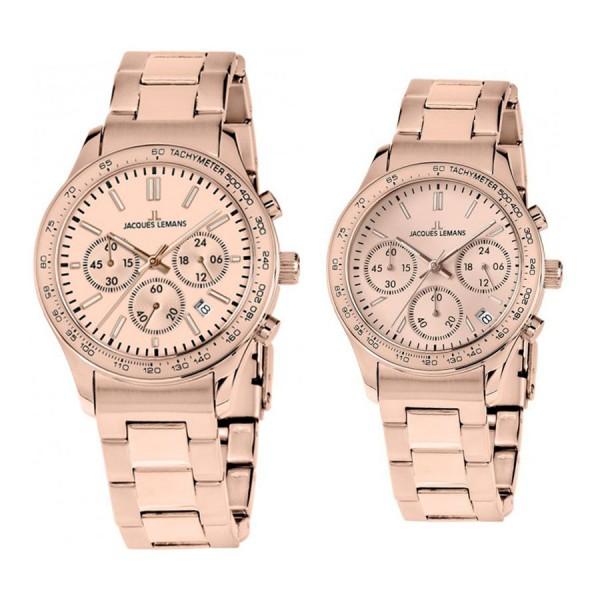 Комплект часовници за двойки Jacques Lemans 1-1586ZO & 1-1587ZK