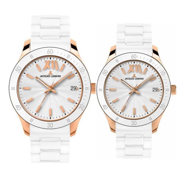 Комплект часовници за двойки Jacques Lemans 1-1622 R & 1-1623R