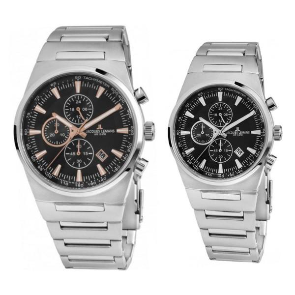 Комплект часовници за двойки Jacques Lemans 1-1734A & 1-1738A