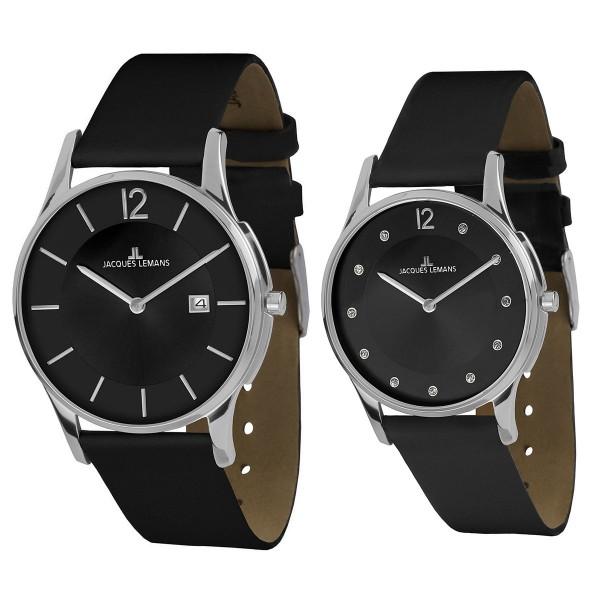 Комплект часовници за двойки Jacques Lemans 1-1850A & 1-1851K