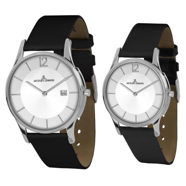 Комплект часовници за двойки Jacques Lemans 1-1850C & 1-1851C
