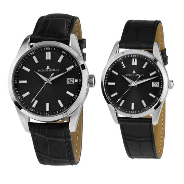 Комплект часовници за двойки Jacques Lemans 1-1868E & 1-1811E