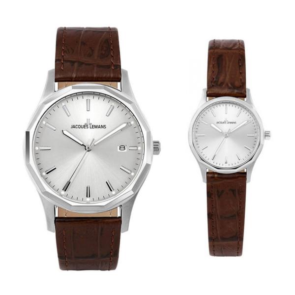 Комплект часовници за двойки Jacques Lemans 1-2010B & 1-2011B