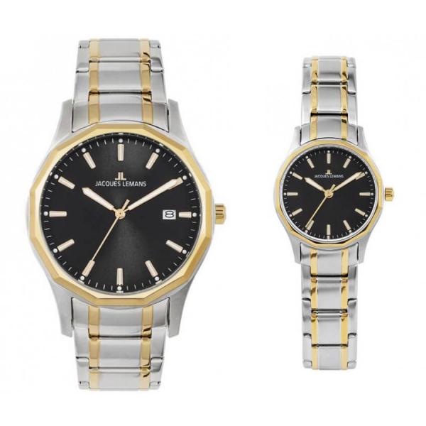 Комплект часовници за двойки Jacques Lemans 1-2012D & 1-2013D