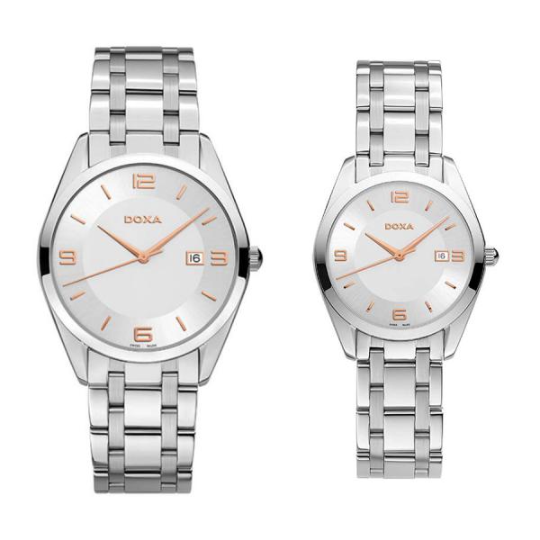 Комплект часовници за двойки Doxa 121.10.023R.10 & 121.15.023R.10