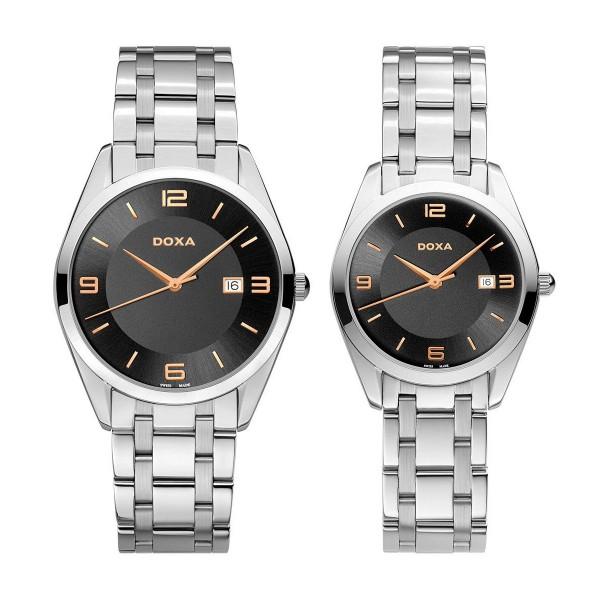 Комплект часовници за двойки Doxa 121.10.103R.10 & 121.15.103R.10