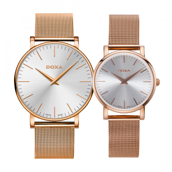 Комплект часовници за двойки Doxa 173.90.021.17 & 173.95.021.17