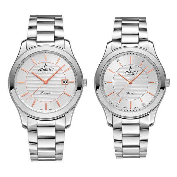 Комплект часовници за двойки Atlantic 60335.41.21R & 20335.41.21R