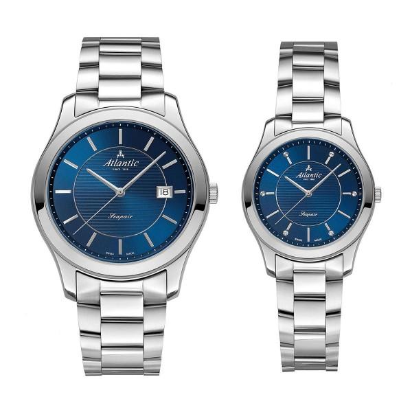 Комплект часовници за двойки Atlantic 60335.41.51 & 20335.41.51