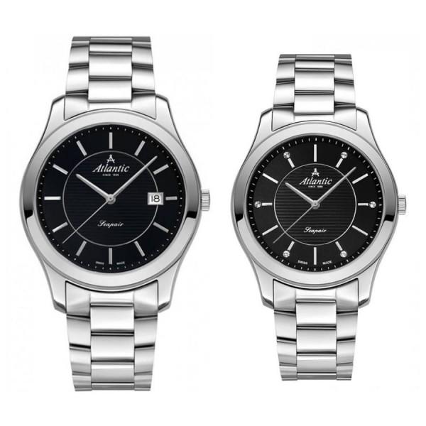 Комплект часовници за двойки Atlantic 60335.41.61 & 20335.41.61