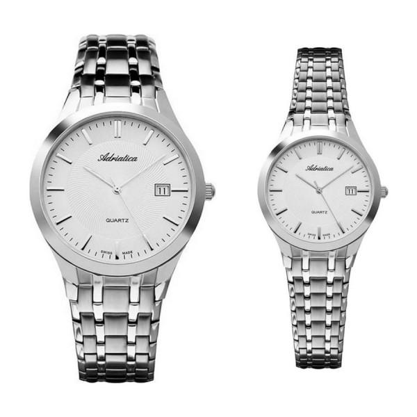 Комплект часовници за двойки Adriatica A1236.5113Q и A3136.5113Q