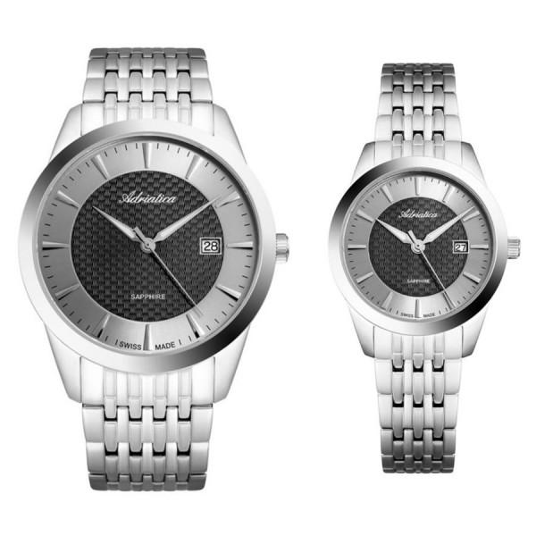 Комплект часовници за двойки Adriatica A1288.5116Q и A3188.5116Q