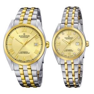 Комплект часовници за двойки Candino C4702/3 & C4704/3
