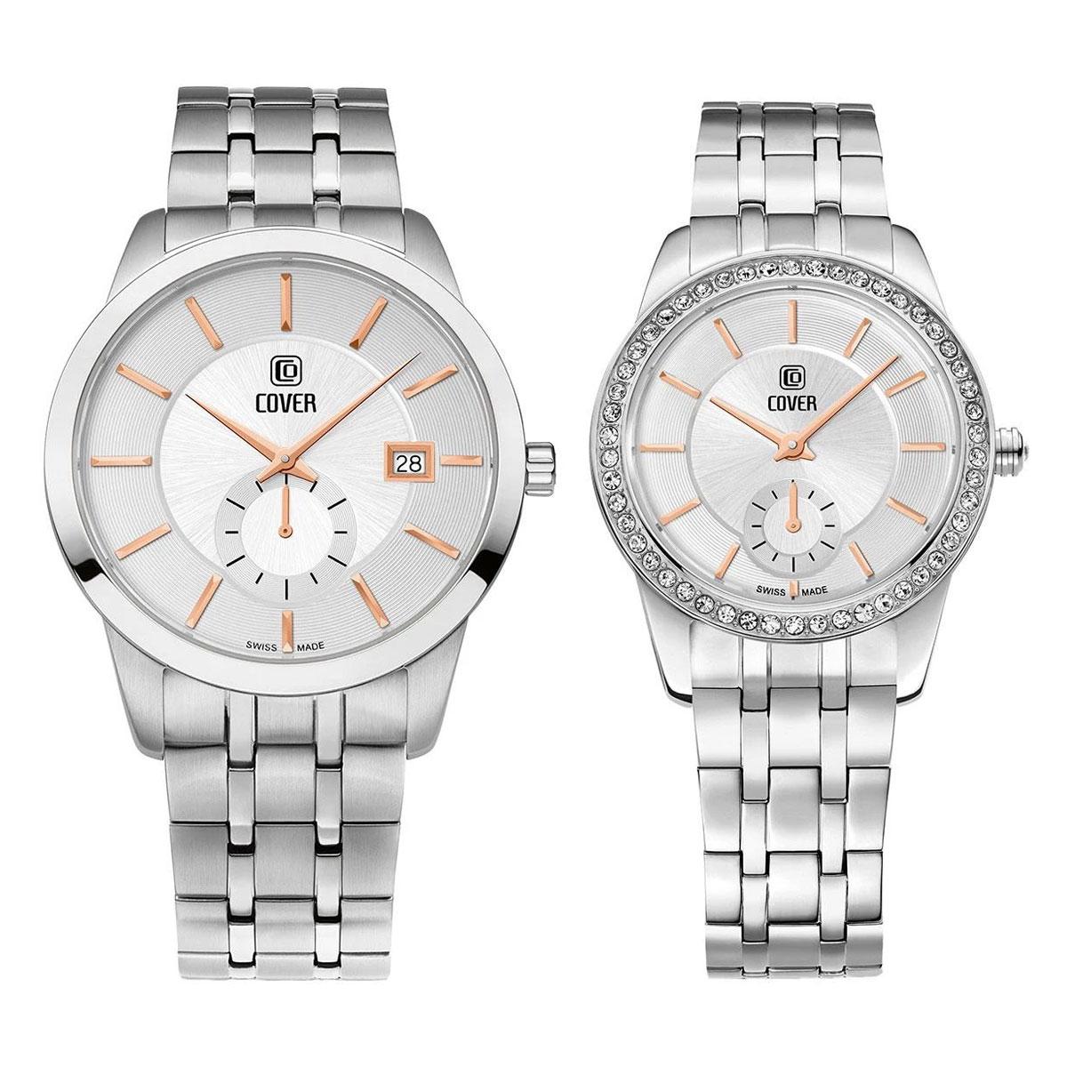 Комплект часовници за двойки Cover CO173.03 & CO174.03