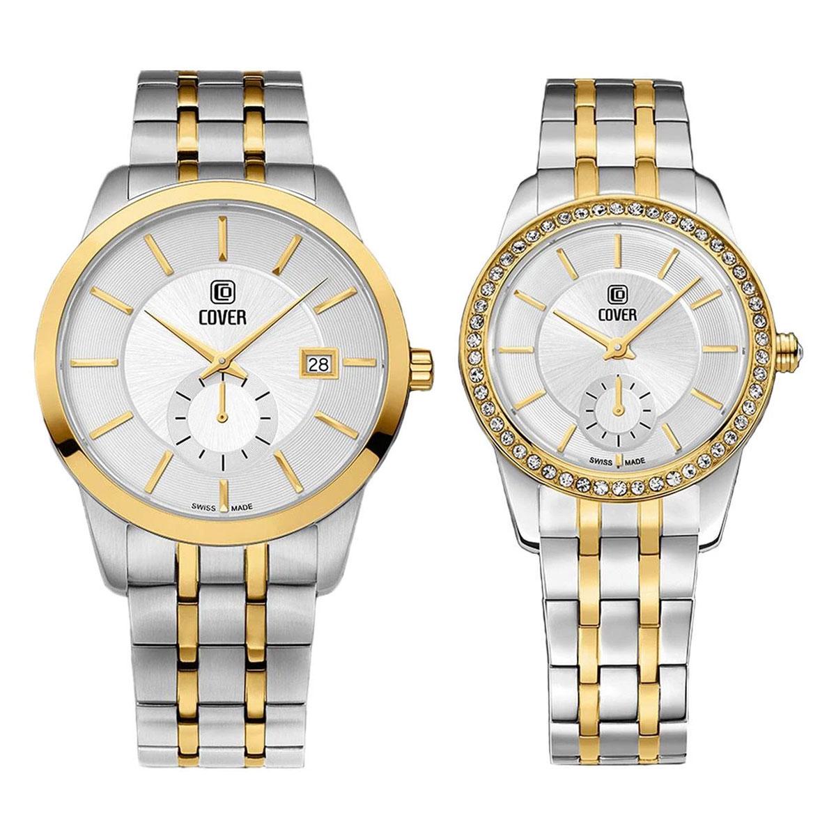 Комплект часовници за двойки Cover CO173.04 & CO174.04
