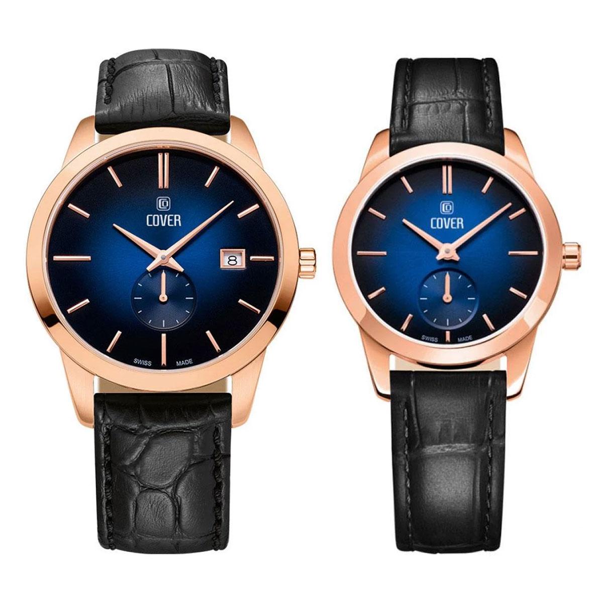 Комплект часовници за двойки Cover CO194.04 & CO195.06