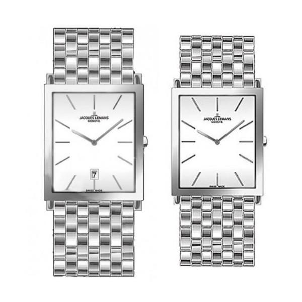 Комплект часовници за двойки Jacques Lemans G-201F & G-202F