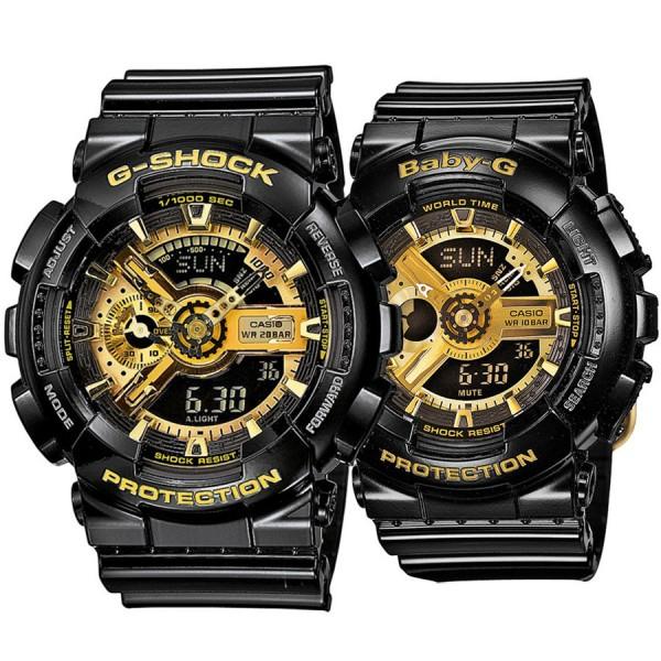 Комплект часовници за двойки Casio GA-110GB-1AER & BA-110-1AER