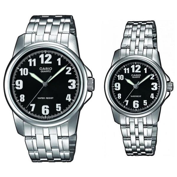 Комплект часовници за двойки Casio MTP-1260PD-1BEF & LTP-1260PD-1BEF
