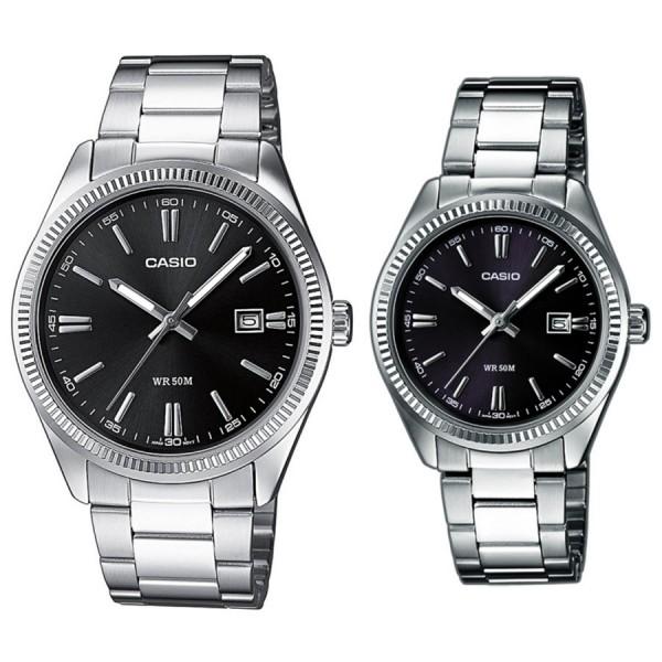 Комплект часовници за двойки Casio MTP-1302PD-1A1VEF & LTP-1302PD-1A1VEF