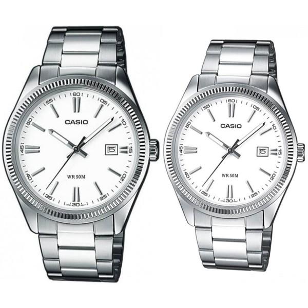 Комплект часовници за двойки Casio MTP-1302PD-7A1VEF & LTP-1302PD-7A1VEF