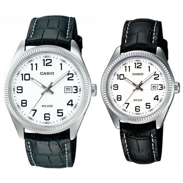 Комплект часовници за двойки Casio MTP-1302PL-7BVEF & LTP-1302PL-7BVEF