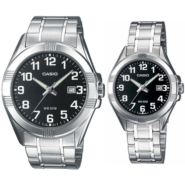 Комплект часовници за двойки Casio MTP-1308PD-1BVEF & LTP-1308PD-1BVEF