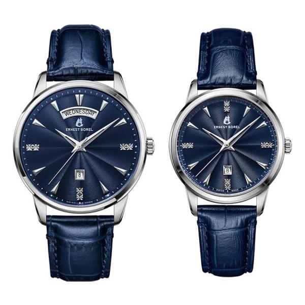 Комплект часовници за двойки Ernest Borel N0436G0C-QS6L & N0436L0C-QS6L
