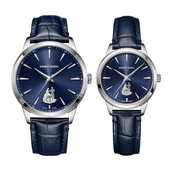 Комплект часовници за двойки Ernest Borel N0520G0D-MS6L & N0520L0D-MS6L