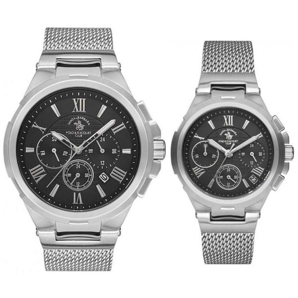 Комплект часовници за двойки Santa Barbara Polo & Racquet Club SB.10.1150.7 & SB.10.1147.7