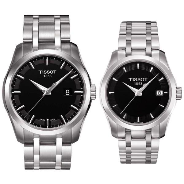 Комплект часовници за двойки Tissot T035.410.11.051.00 & T035.210.11.051.00