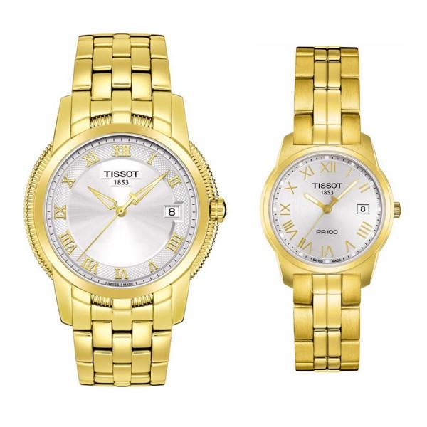 Комплект часовници за двойки Tissot T049.410.33.033.00 & T049.210.33.033.00
