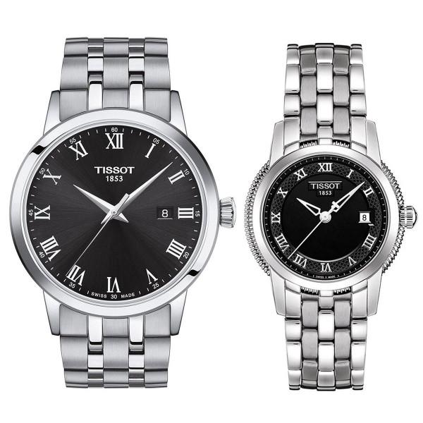 Комплект часовници за двойки Tissot T129.410.11.053.00 и T129.210.11.053.00