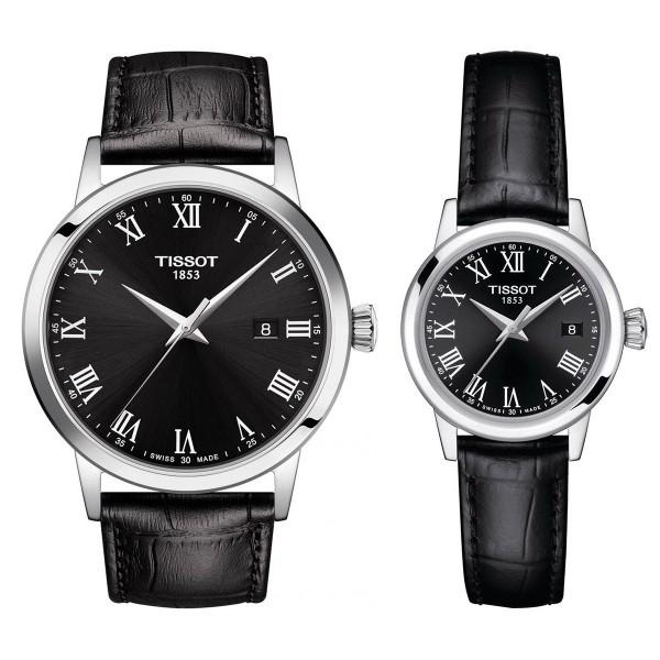 Комплект часовници за двойки Tissot T129.410.16.053.00 и T129.210.16.053.00