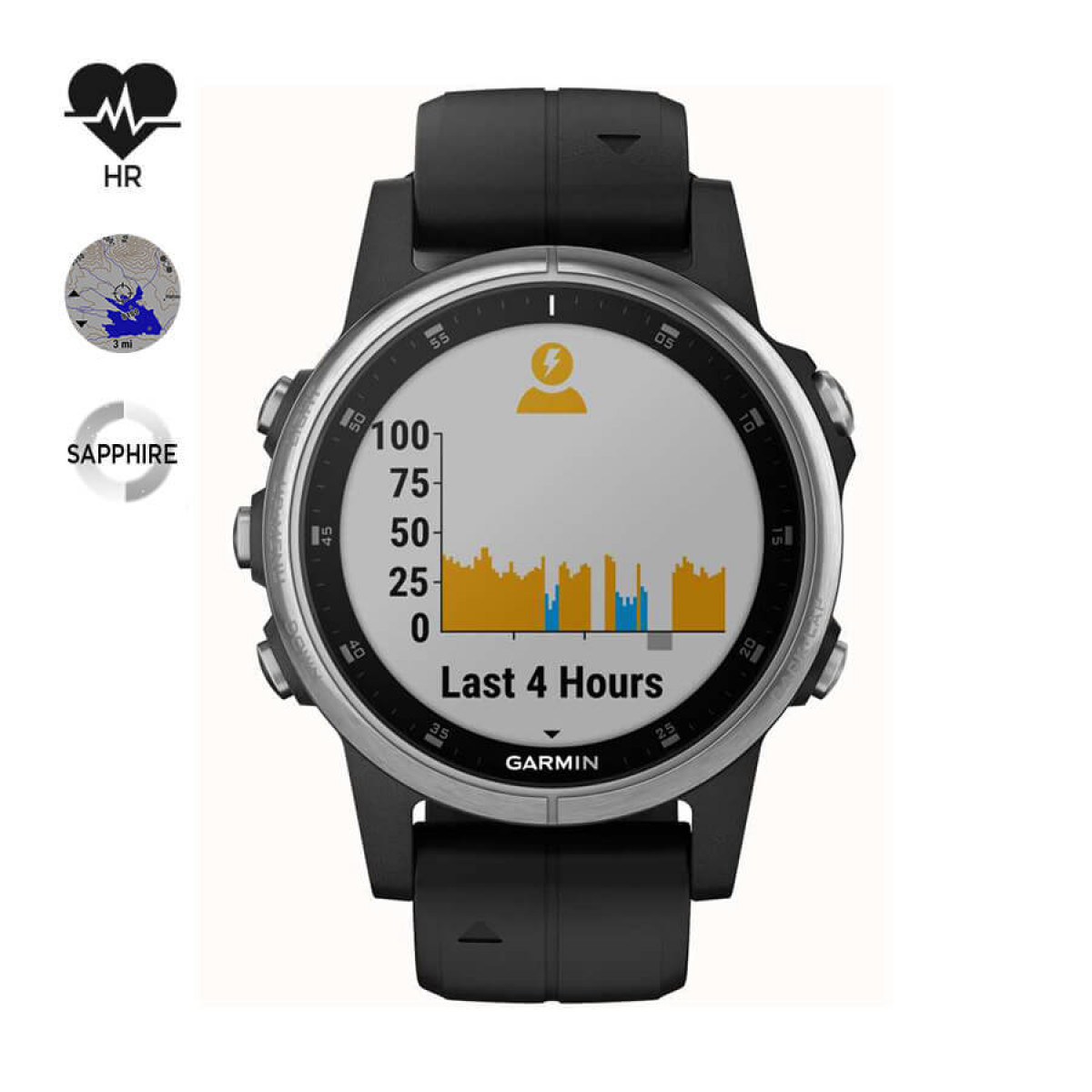 Часовник Garmin Fenix 5S Plus 010-01987-21